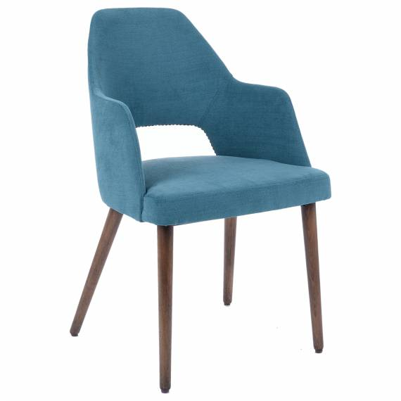 Solid Wood Fully Upholstered Sofia H Restaurant Dining Chair