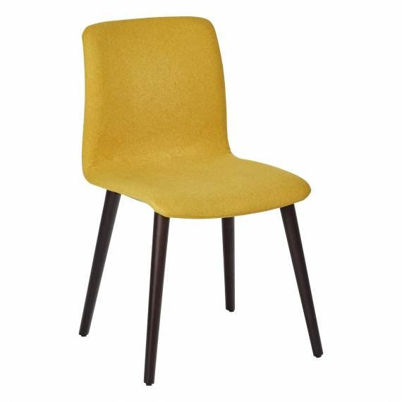 Fully Upholstered Round Back Zack Restaurant Wood chair