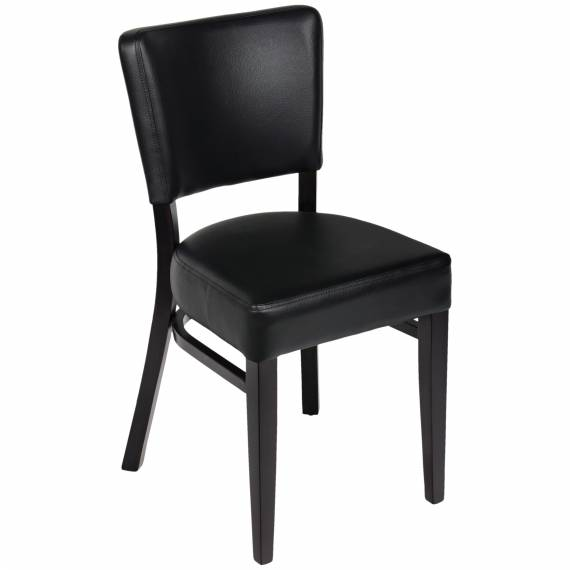 Fully Upholstered  OREGON RESTAURANT Wood CHAIR