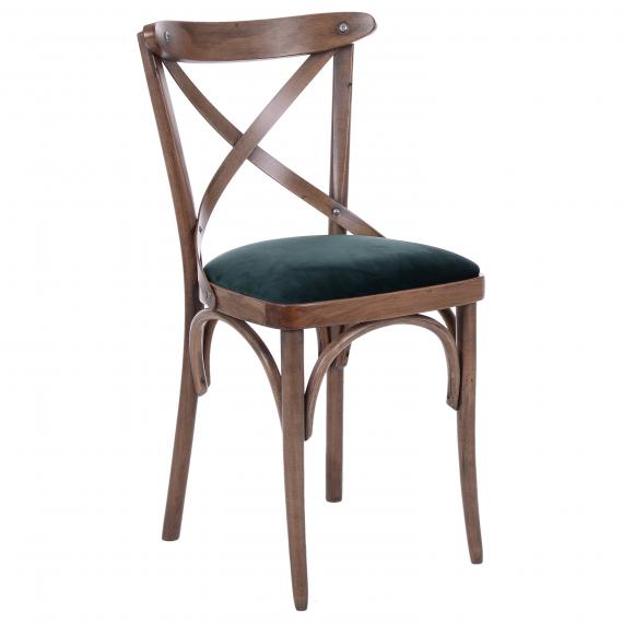SOLID WOOD CROSS BACK CROSSBACK P RESTAURANT SIDE CHAIR