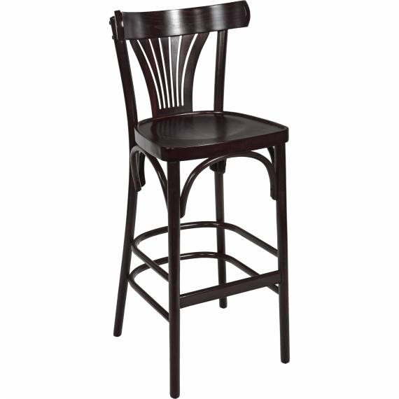 Fanback Bentwood Commercial Bistro B Bar Stool