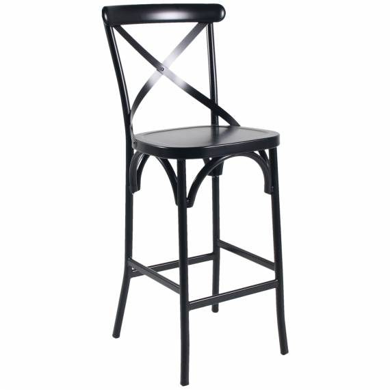 Cross-back Aluminum ALU 657 B Restaurant Bar stool