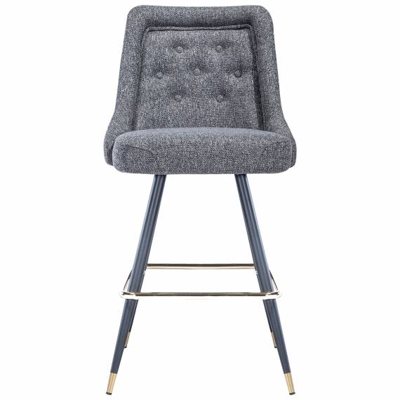 Upholstered Tufted Back JMB-001B Metal Restaurant Bar Stool