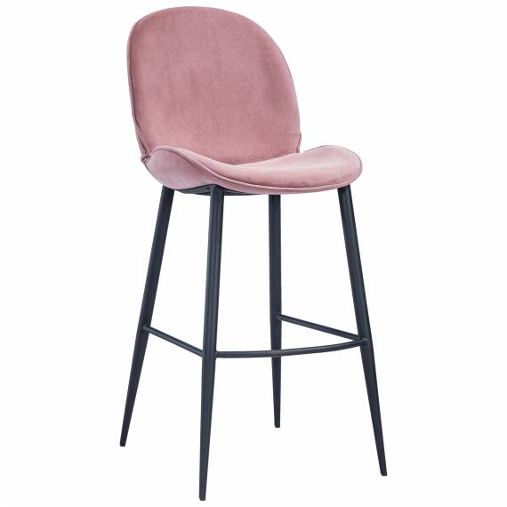 Fully Upholstered Modern JMB-003B Metal Restaurant Bar Stool