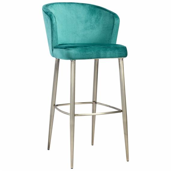 Luxury Fully Upholstered Transparent JMB -004B Metal Restaurant Bar Stool