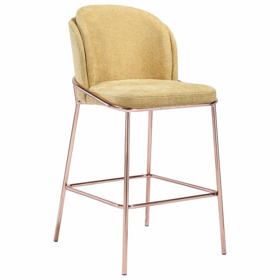 Luxury Upholstered JMB -005B Metal Restaurant Bar Stool