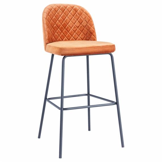Upholstered Diamond Back  JMB-012 B Metal Restaurant Bar Stool