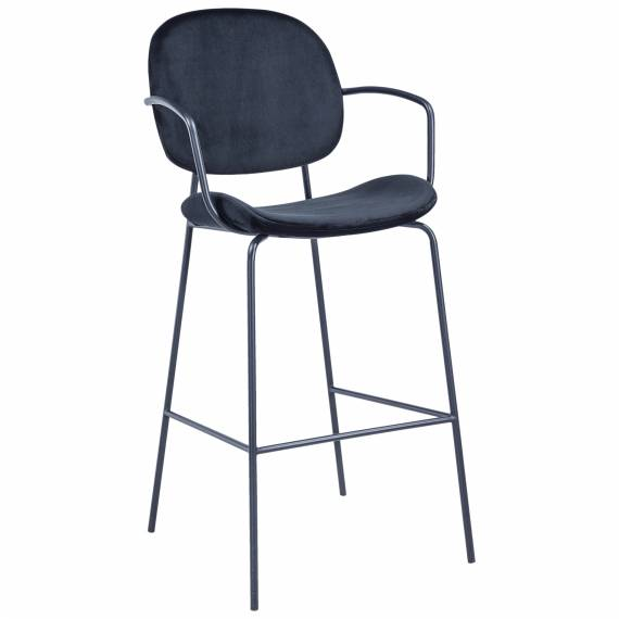 Fully Upholstered Black Metal JMB-007 B Restaurant Bar Stool