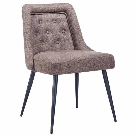 Fully Upholstered Tufted Back JMB-001C Restaurant Metal Chair