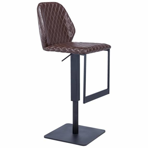 Height Adjustable Upholstered JMB-014B-Black Restaurant Bar stool