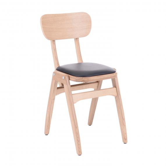 Solid Wood Stackable Malky Restaurant side chair
