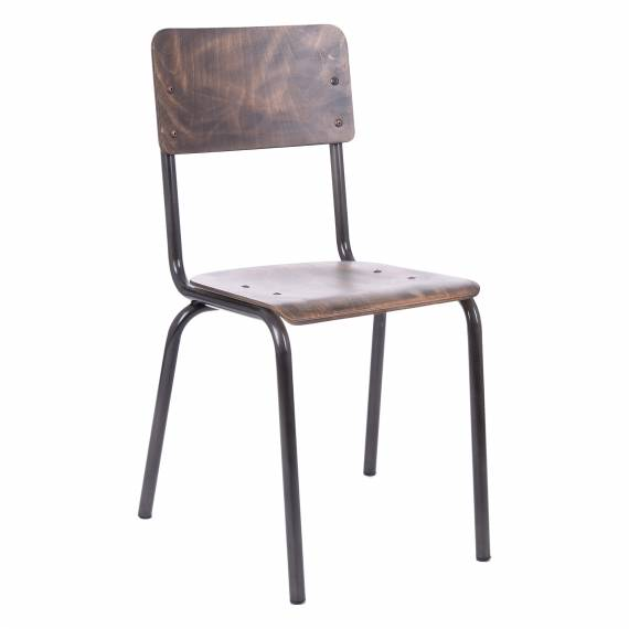 ANTIQUE LOOK VICE METAL RESTAURANT CHAIR