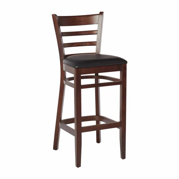 LADDERBACK BP RESTAURANT BAR STOOL with an upholstered seat