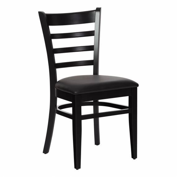 Solid Wood LADDERBACK P RESTAURANT Dining CHAIR  with upholstered seat