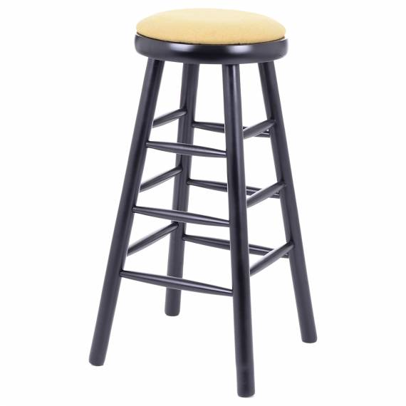 UPHOLSTERED WOOD BB-30 P BACKLESS STOOL
