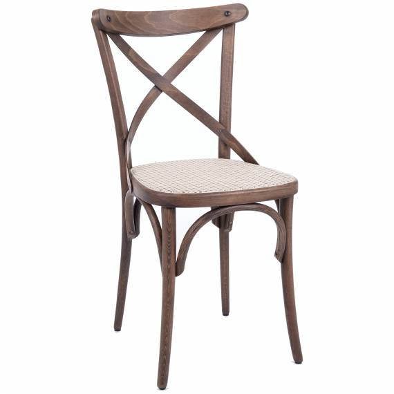 Bentwood Crossback Chair with cane seat