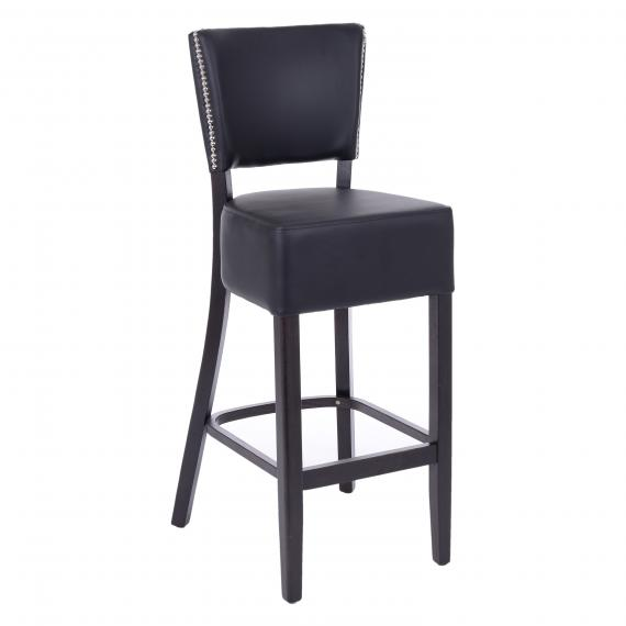 FULLY UPHOLSTERED OREGON with nailheads RESTAURANT BAR STOOL