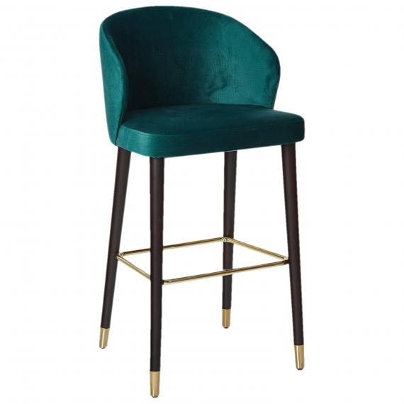 Fully Upholstered Solid Wood Pandora B  LUX Restaurant Bar Stool