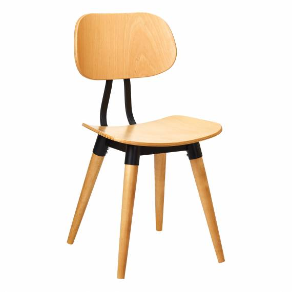 Solid Wood Chair Riccardo with Metal Frame