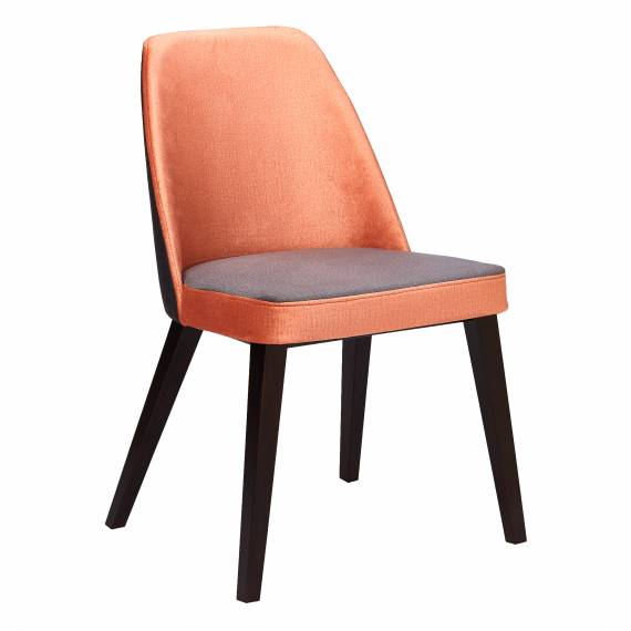 Upholstered Restaurant Chair Diana SQ with Solid Wood Square legs